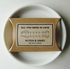 BEATLES MUSIC-Wedding Favor Boxes-Rustic Favor by IzzyandLoll