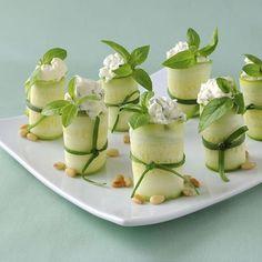 Ricotta-Stuffed Zucchini Rolls makes approximately 24 zucchini rolls 4 ...