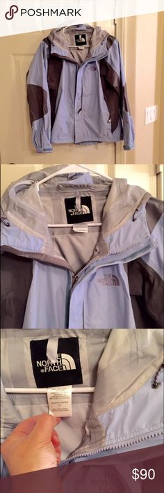 Like new North face wind rain light jacket Like new North face wind rain light jacket.  Beautiful lavender and black color. Worn once or twice. North Face Jackets & Coats