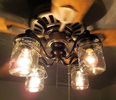 Mason Jar Ceiling Fan LIGHT KIT, Oil Rubbed Bronze farmhouse-ceiling-fans