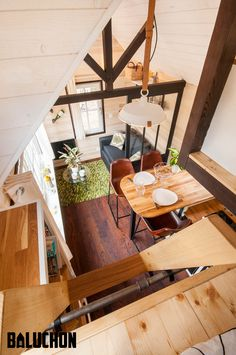 La Bohème: a beautiful modern/rustic tiny home from French builder, Baluchon.
