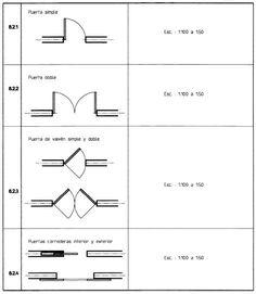 puertas.jpg · Architecture SymbolsArchitecture ...  sc 1 st  Pinterest & Door / Window floor plan symbols | Architecture | Pinterest ...