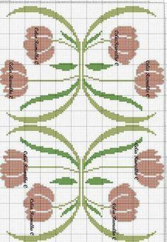 Cross Stitching, Cross Stitch Embroidery, Embroidery Patterns, Hand Embroidery, Cross Stitch Designs, Cross Stitch Patterns, Art Nouveau Pattern, Sewing Art, Bargello