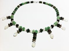 Necklace with stones and silver parts