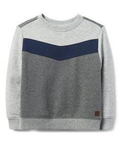 b7eaeb919 Gray & Blue Color Block Crewneck Sweatshirt - Infant, Toddler & Boys  #zulilyfinds