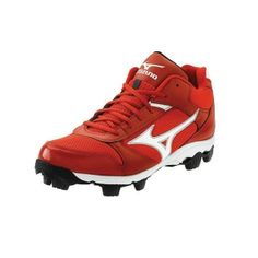 Mens Mizuno Franchise Baseball Cleats Red Leather - ONLY $49.99