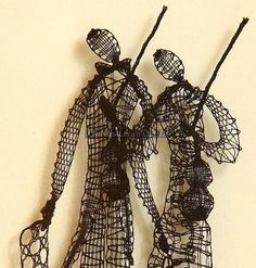 """The ViolinistsFrom series """"Music In lace"""". Hand-made bobbin lace picture.Old Russian bobbin lace technique. Technique: bobbin laceMaterials: cotton.Size and framing:22 x 27cm / 8.7 x 10.6 inches.framed, under glass.This piece of art is available.To order another piece, please allow 1 month for completion.Please, note that the price does not include shipping costs.Contact us before ordering this work.Delivery estimate is between 3 and 25 days, depending on the shipping method the Artisan"""