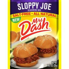 Free Sample of Mrs. Dash Sloppy Joe Seasoning Mix