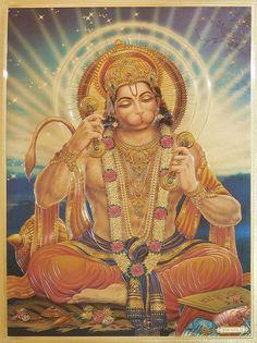 Lord Hanuman (Reprint On Metallic Paper - Unframed)
