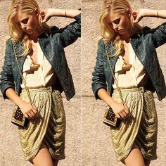Party anytime #couro #jaqueta #streetstyle #fashion #moda #paetê #saia #camisa #estilo #style #look