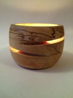 Image result for woodturning tea light