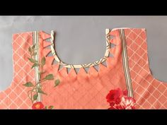 New Neck Design (galy ka design): Sweet viewers, This video is about latest neck design. Churidhar Neck Designs, Neck Designs For Suits, Sleeves Designs For Dresses, Neckline Designs, Dress Neck Designs, Stylish Dress Designs, Hand Designs, Sleeve Designs, Salwar Kameez Neck Designs