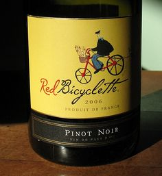 Wine label: Red Bicyclette by Vilseskogen, via Flickr