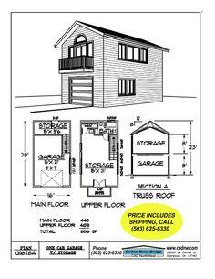 2 story Single Garage Plan