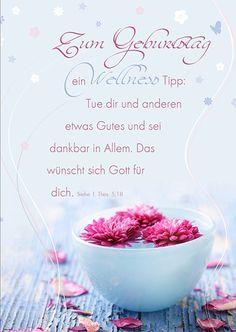 Postkarte - Zum Geburtstag – Wellness