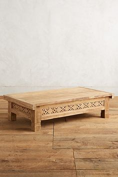 Living Room: Handcarved Fretwork Coffee Table #anthropologie