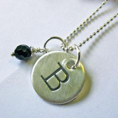 Personalized Initial Necklace   Made on Hatch.co