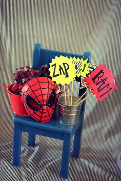 Spiderman Party, I love all of these ideas! Adult Birthday Party, Sons Birthday, Third Birthday, Birthday Ideas, Spiderman Theme Party, Superhero Party, Car Themed Parties, Kid Parties, Party Time