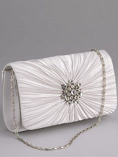 Silver clutch bag, Littlewoods