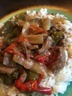 Beef rice pepper combo, Bonnie made, march 2017.