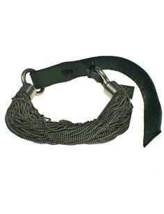 Goti - Goti 74 Strand Sterling SIlver Chain Button Clasp Bracelet