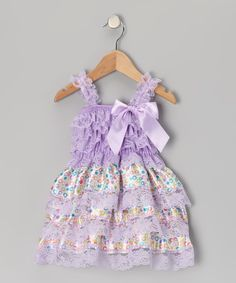 Lavender Lace Floral Ruffle Dress - Infant, Toddler & Girls, $19.99 Tutu AND Lulu, on Zulily