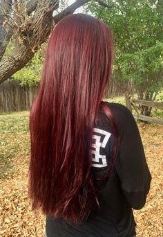 Deep Red Hair, Red Brown Hair, Long Red Hair, Red Hair Inspo, Burgundy Hair Dye, Wine Hair, Hair Styler, Hair Shades, Haircuts For Long Hair