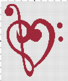 Bass and Treble Clef Cross Stitch