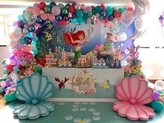 Under Sea Ariel Princess Little Mermaid Rocks Corals Custom Backdrop for Kids Birthday Party Mermaid Theme Birthday, Little Mermaid Birthday, Little Mermaid Parties, The Little Mermaid, 5th Birthday, Birthday Ideas, Little Mermaid Decorations, Birthday Party Decorations, Barbie