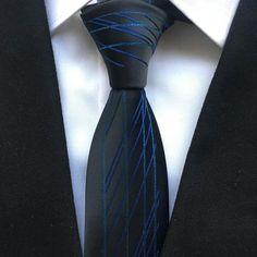 Les hommes modernes Skinny pois fleurs à nouer de solides à Rayures Mince Mariage Cravate