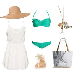 love the starfish bag, the necklace, the bikini, the dress!! love love. could go without the hat personally...