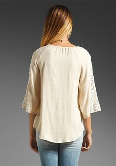 ELLA MOSS Valerie Lace Tunic in Angel at Revolve Clothing - Free Shipping!
