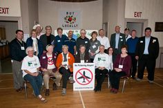 Marty Royle, Gordon Willson & Pat Horne, LOL Chair Mary Delaney; LOL General Secretary Gabrielle Untermann; Events Co-Chair Joanne Azevedo, Membership Chair Charlotte Miller. Standing: Events Co-Chair Dave Spylo; Sandra (Budden) Campbell, Carl Cosack (Food and Water First); Al Graham, Bill Lishman (POP); Brian Buckles (Green Durham); LOL Vice-Chair Pat Valentine; Kevin O'Connor (Friends of the Rouge Watershed); MP Matthew Kellway; LOL Research Chair Jim Miller; MP Malcolm Allen; MP Dan…