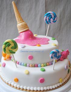Le gâteau de la kermesse: candy cake ! - Le blog de comme1enviede