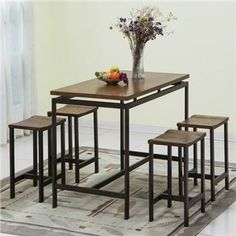 Kea 5 Pc Counter Height Set | Furniture and Mattress Outlet This would be good for the kitchen!! ONLY $164