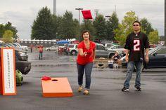 Build a DIY Cornhole set for your next outdoor party! Bonus points if you give it a festive paint job!
