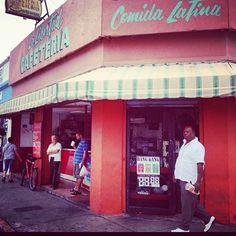 Old school cafeteria on W. Flagler St. in Little Havana (Miami, FL). They've got the best empanadas de carne ever!