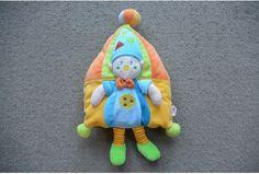 Nicotoy knuffel kussen geel blauw groen ster Cirque Clown