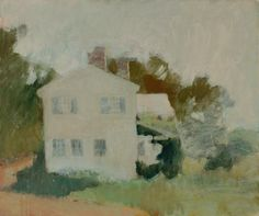 """Back of the House,"" Fairfield Porter, ca. 1960, oil on canvas, 32 x 38"", Parrish Art Museum."