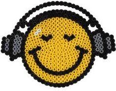 Smiley music - hama perler beads -Bügelperlen
