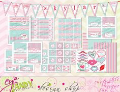 American Birthday TEA party COLLECTION  by EyeCandyEventDetails, $40.00