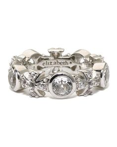 White Sapphire Maltese Ring, Size 7 by Elizabeth Showers at Last Call by Neiman Marcus.
