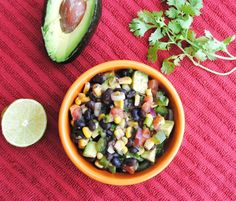 Black Bean and Corn Salad with Avocado. Click for recipe.
