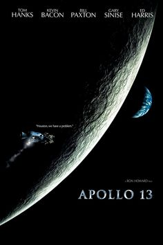 Apollo 13 is a 1995 American docudrama film directed by Ron Howard. The film stars Tom Hanks, Kevin Bacon, Bill Paxton, Gary Sinise, Kathleen Quinlan and Ed Harris. Tom Hanks, Hindi Movies, Great Films, Good Movies, 1995 Movies, Excellent Movies, Awesome Movies, Movies 2019, Love Movie