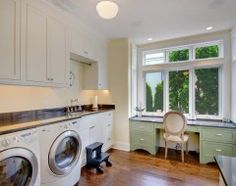 Traditional Laundry Room With Office Space Purple Laundry Rooms, Modern  Laundry Rooms, Laundry Craft