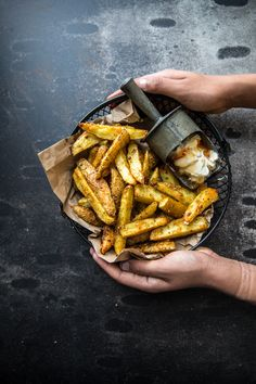 Healthy ( ish ) oven baked crunchy chips and dips, fries for comfort food with a film and a blanket after a hard day