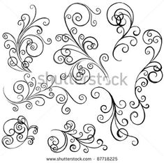 simple filigree pattern - Google Search