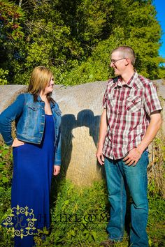 shadow kiss engagement photo ©Heirlooms by Stephanie Photography