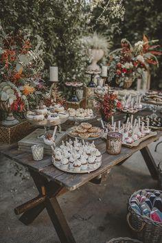 Wait Till You See This Free-Spirited Spanish Wedding! Wedding Desert Table, Fall Wedding, Rustic Wedding, Our Wedding, Dream Wedding, Wedding Candy Table, Wedding Ideas, Wedding Sweets, Easy Wedding Food