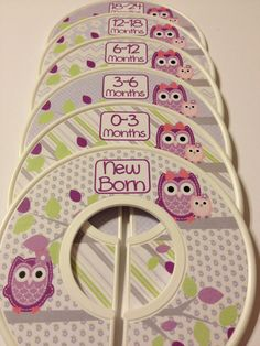 6 Custom Baby Closet Dividers Organizers by GinaMarieOriginals, $18.00